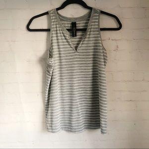 [Yogalicious] gray striped athleisure tank XS